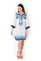 Пляжная рубашка женская с длинным рукавом Iconique IC8-071 42(S) Белый