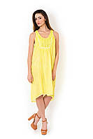 Летние желтое платье сарафан из хлопка Iconique IC8-088 42(S) Желтый