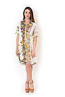 Пляжное платье с цветочным принтом Iconique IC8-090 42(S) Белый Iconique IC8-090