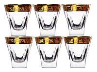 Набор бокалов для виски из 6 шт. декор золотом