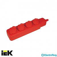 Удлинитель У04В 4 места с защитными крышками IP44 2Р+PE/5метров 3х1мм2 16А/250В ИЭК(IEK)