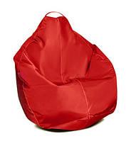 Бежевое кресло-мешок груша 100*75 см из ткани Оксфорд S-100*75 см, Красный