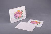"""Открытка с конвертом """"Винтажная роза"""" 12,5х10 см."""
