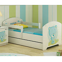 Детская кровать Oskar+ящик Голубой Мишка 140 х 70 Baby Boo 100182