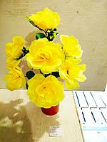 Роза искусственная 7 бутонов высота 54см