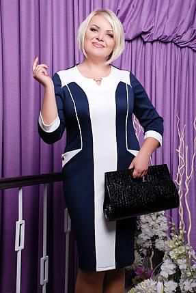 Платье Арабель (темно-синий+белый), фото 2