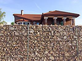 Габионное ограждение частного дома  1