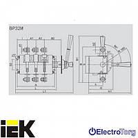 Выключатель-разъединитель серии ВР32И-31B71250 100А на 2 направления съемная рукоятка ИЭК