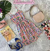 Легко платье-сарафан из легкой и яркой ткани  DR180552