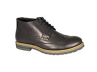Мужские ботинки  мужские из натуральной кожи faber 177201.1 черные   зимние , фото 1