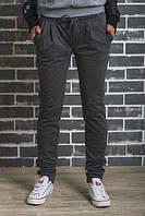 Спортивные штаны на манжете темно-серые