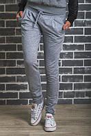 Спортивные штаны на манжете светло-серые