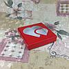 Коробка для пряников Красный с окном Сердце 150*150*30