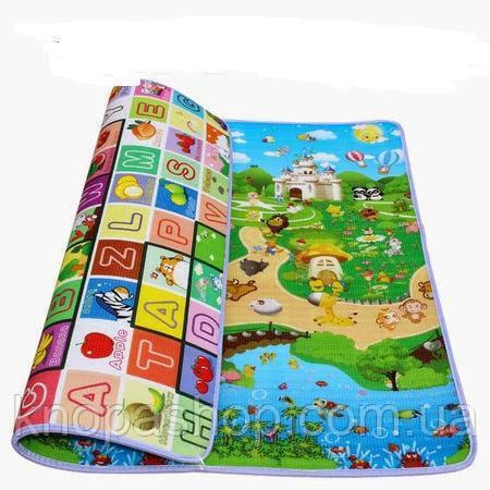 Детский коврик двусторонний. Размер 1,2м на 1,8м Толщина 5мм.