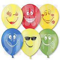 """Воздушные шары Ассорти пастель Смайлики 12"""" (30 см), 50 шт"""