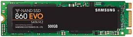 SSD НАКОПИТЕЛЬ SAMSUNG 860 EVO 500GB M.2 SATA TLC (MZ-N6E500BW)