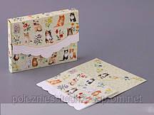 "Открытка с конвертом ""котята"" 12,5х10 см. cwsnp2371"