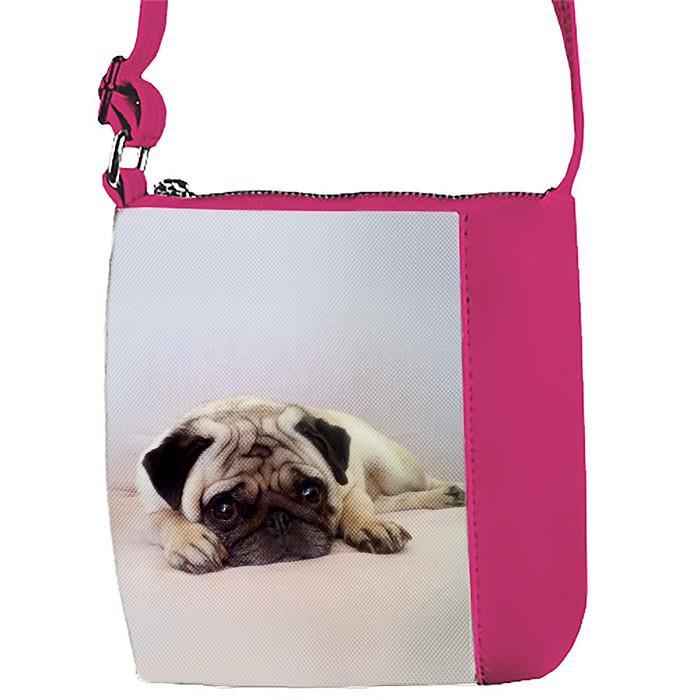 Купить детскую сумку для девочки с принтом Мопс