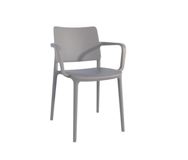 Кресло Joy-K пластик Серо-коричневый (Papatya-TM)