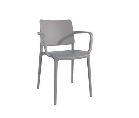 Кресло Joy-K пластик Серо-коричневый (Papatya-TM), фото 2