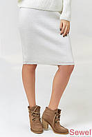 Вязаная теплая юбка с люрексом
