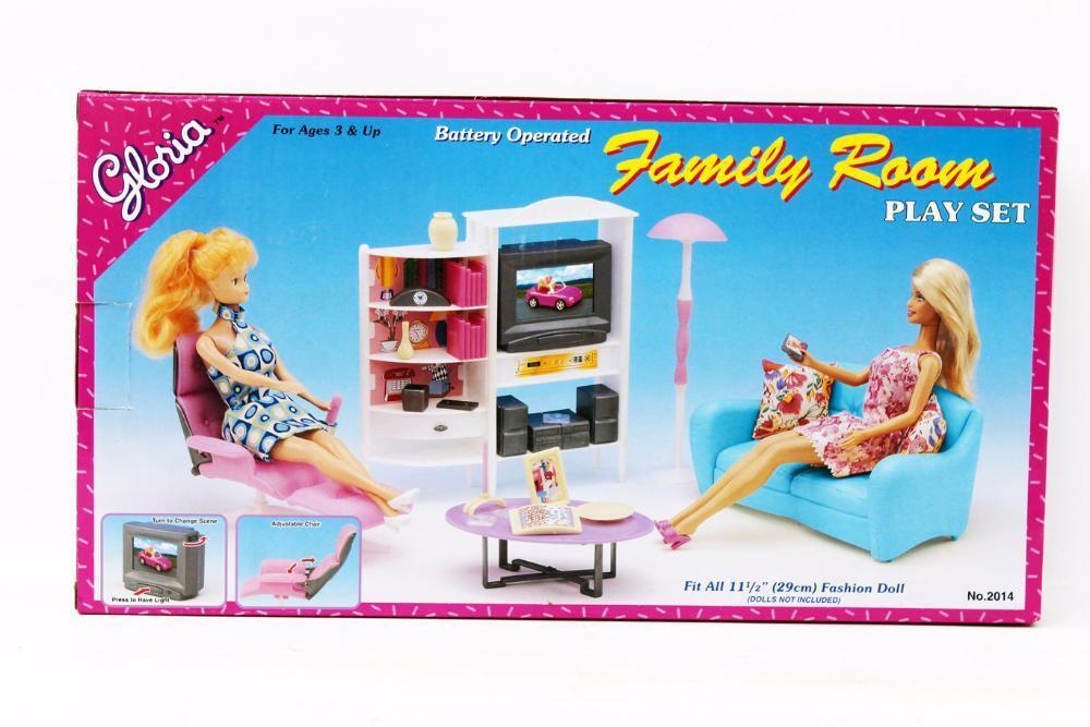 Мебель для Барби Gloria  2014 Гостиная для кукол. Яркий качественный пластик
