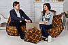 Кресло мешок груша пуф (набор) желтого цвета, фото 2