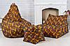 Кресло мешок груша пуф (набор) желтого цвета, фото 3