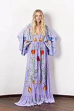 Платье с вишивкой длинное хлопок