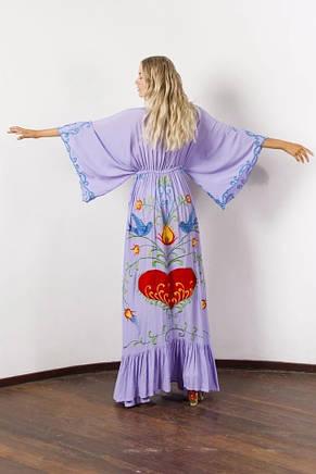 Платье с вишивкой длинное хлопок, фото 2