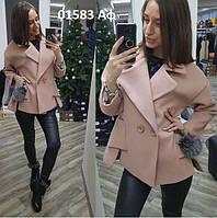 Стильное женское пальто 01583 Аф, фото 1
