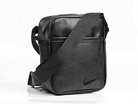 Мужская барсетка Nike из эко-кожи, сумка через плечо, мессенджер найк черного цвета, размер XL