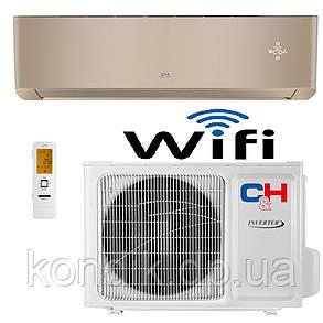 Кондиционер Cooper&Hunter SUPREME (Gold) CH-S24FTXAM2S-GD Wi-Fi инвертор, фото 2