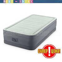 Надувная кровать Intex 64902 (99x191x46 см.) Встроенный насос 220 В, фото 1