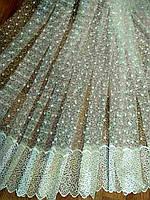 Тюль Плеяда крем-золото