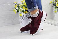 Женские Nike Huarache бордовые арт.4267, фото 1