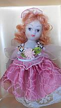 Кукла фарфоровая Елена высота 10 см в подарочной коробке
