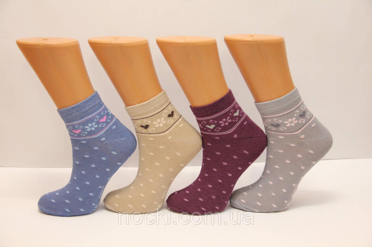 Женские носки средние стрейчевые с хлопка компютерные Style Luxe КЛ KJ   kj51
