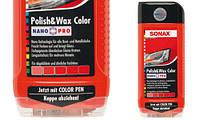 Красный автополироль (тефлон) в воском 500 мл SONAX NanoPro + карандаш 296100