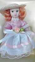 Кукла фарфоровая София высота 10 см в подарочной коробке