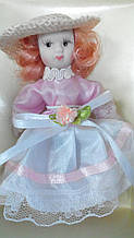 Порцелянова лялька Софія висота 10 см в подарунковій коробці