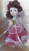 Кукла фарфоровая Валентина высота 10 см в подарочной коробке