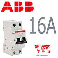 Авт. выкл. ABB 2-полюса 16A SH 202-B