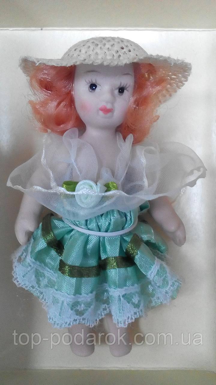Кукла фарфоровая Ольга высота 10 см в подарочной коробке