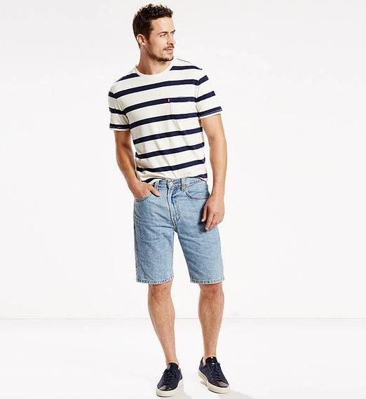 Джинсовые шорты Levis 505 - Light Stonewash (джинсы W30)