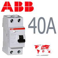 УЗО ABB 2-полюса 40A 30mA FH 202
