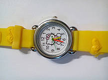Часы наручные детские Kitty желтые, фото 3