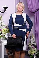 Платье Зита LE-6549 (темно-синий+белый), фото 1