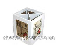 Подставка для столовых приборов деревянная Прованс