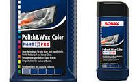 Полироль с воском для синего автомобиля 500 мл SONAX NanoPro 296200
